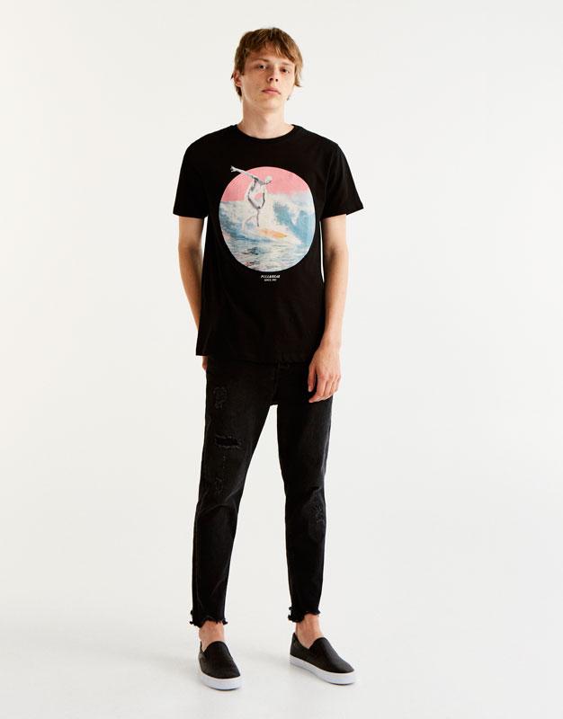 T-Shirt mit Diskuswerfer