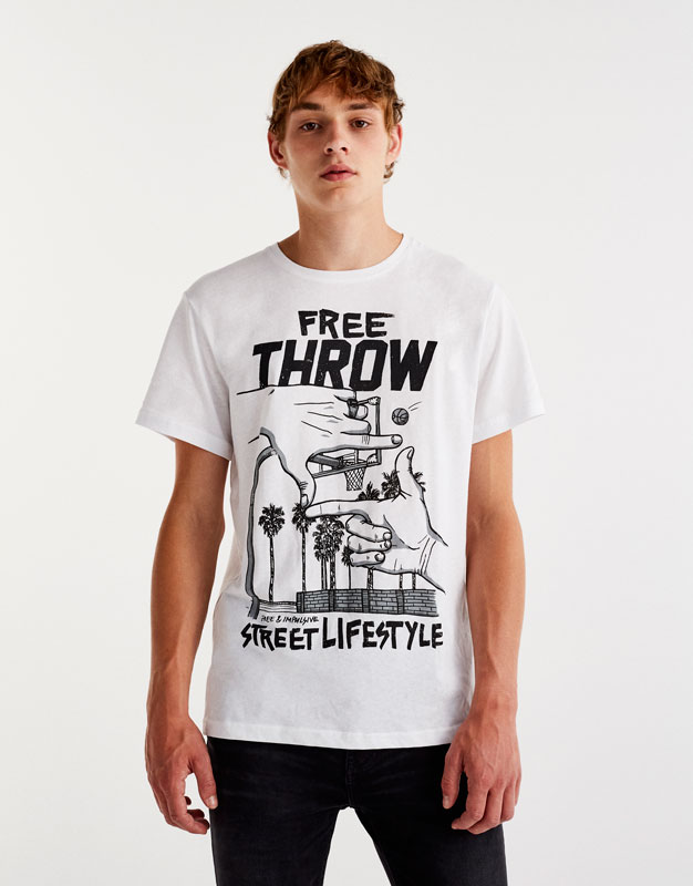 Skate-Shirt mit Händeprint