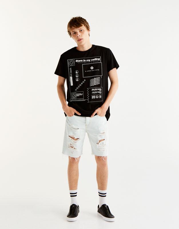 Front print T-shirt