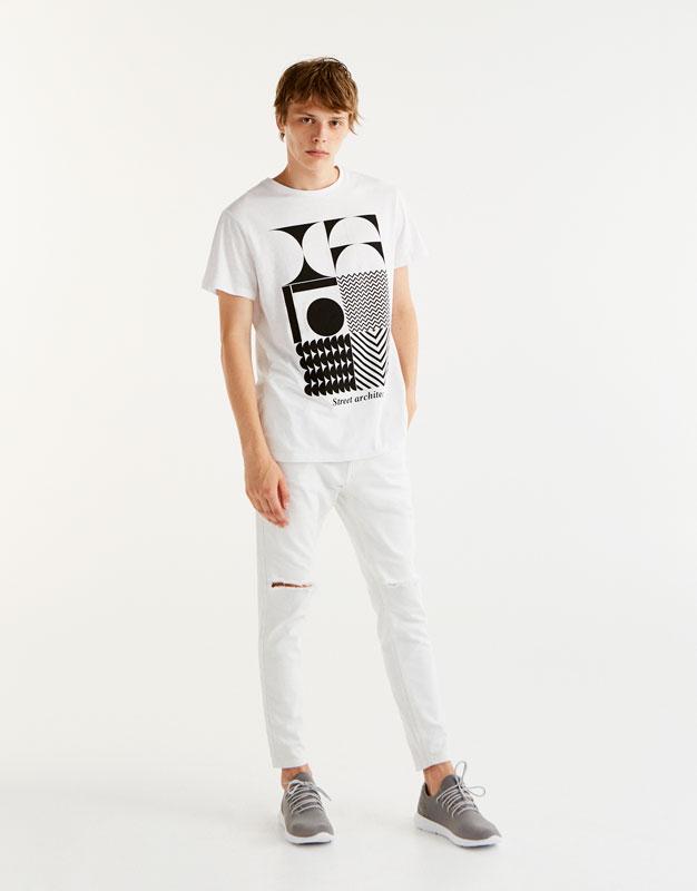 Shirt mit geometrischem Print