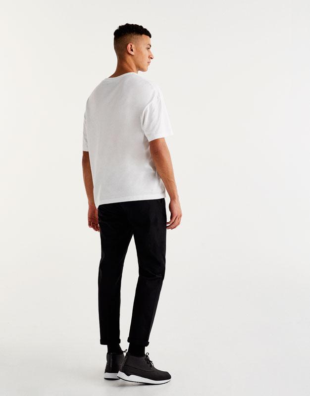 T-shirt basic épaule tombante