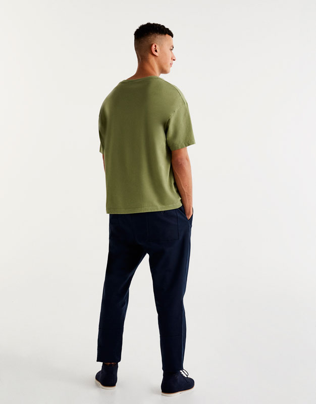Basic drop-shoulder T-shirt