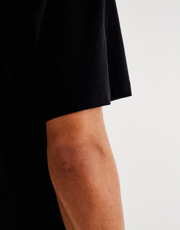 Basic drop-shoulder T-shirt