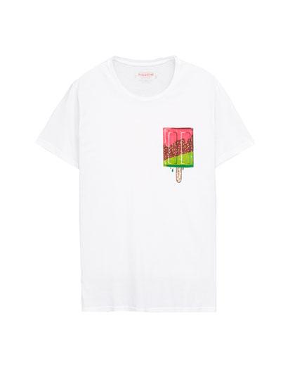 Ice cream graphic T-shirt