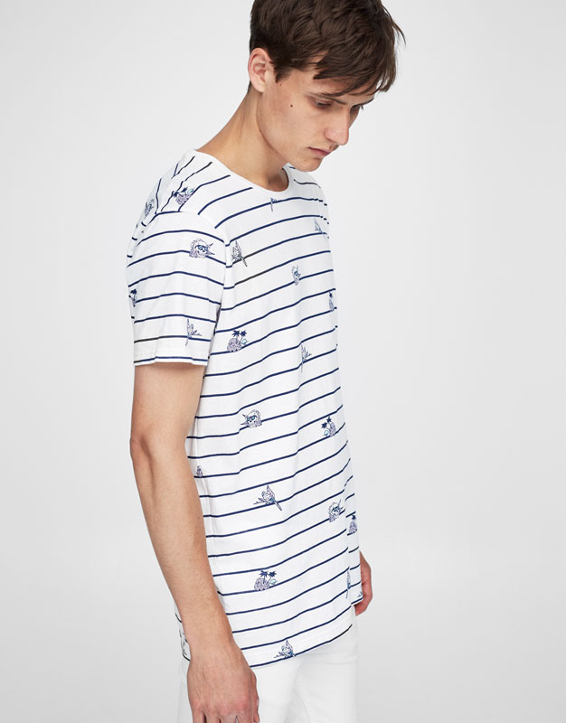 All-over stripes T-shirt