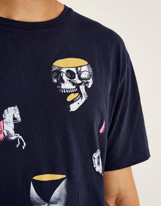 Shirt mit Zeichnungsprint
