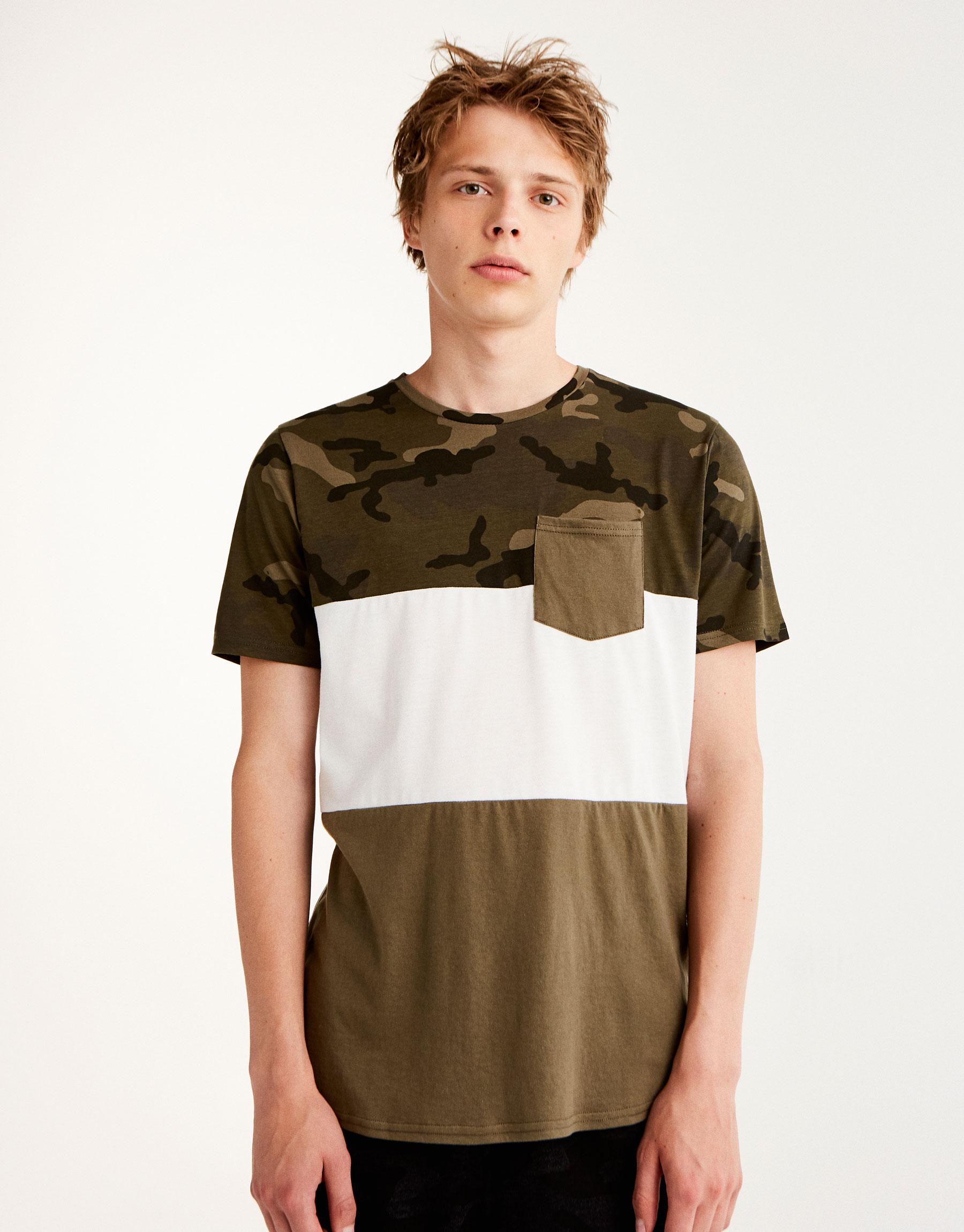 Camouflage panel T-shirt
