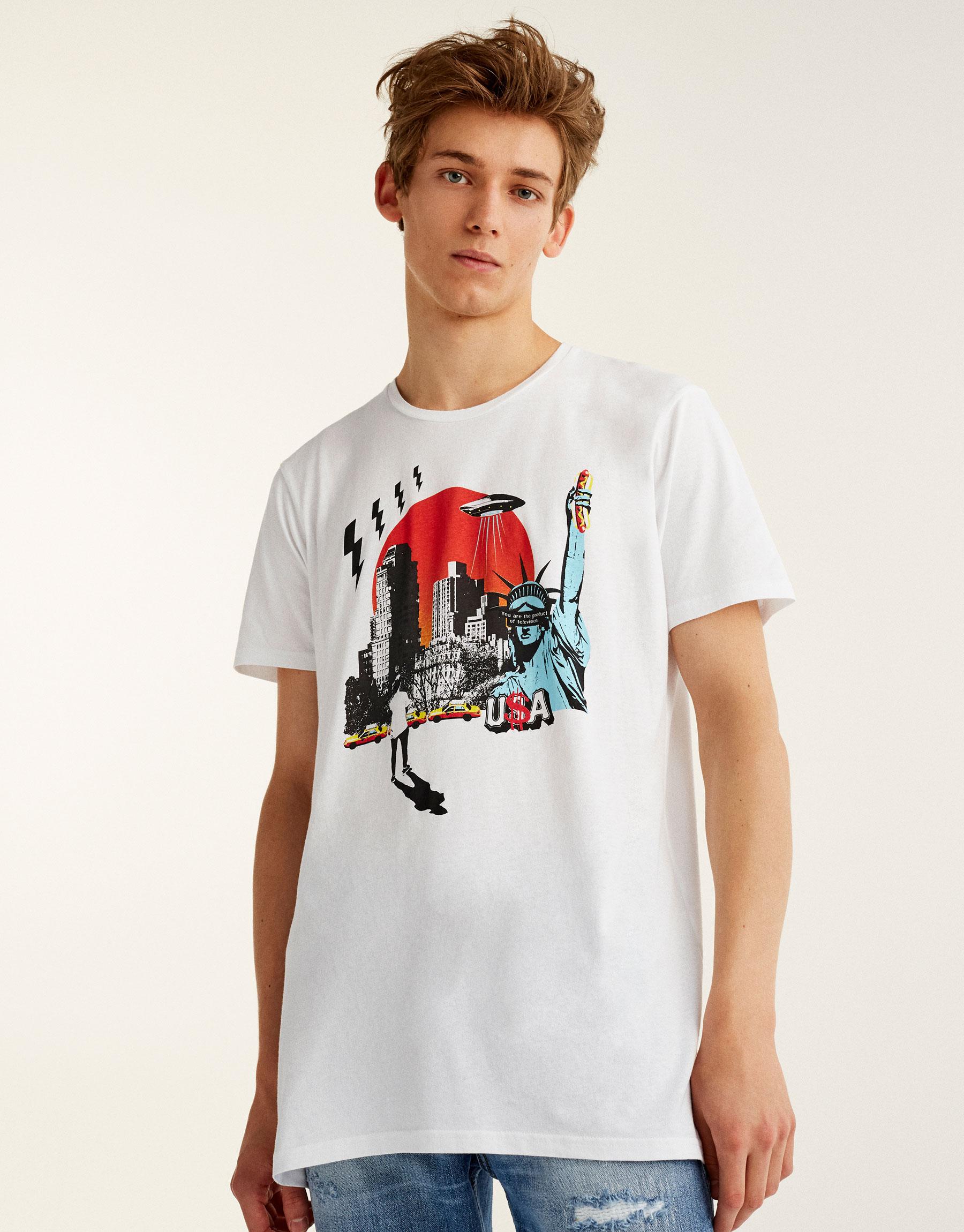 USA print T-shirt