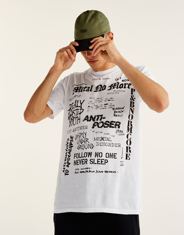 Camiseta texto allover