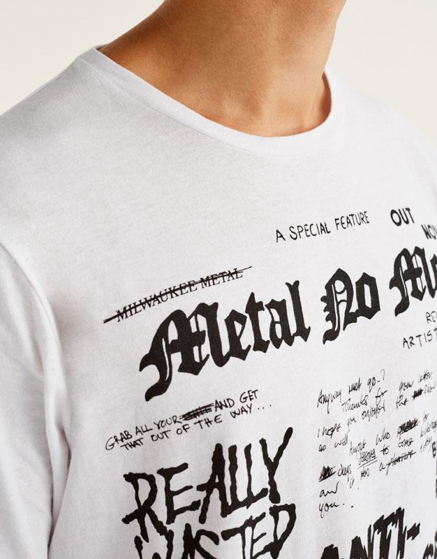 All Over Shirt mit Schriftzug