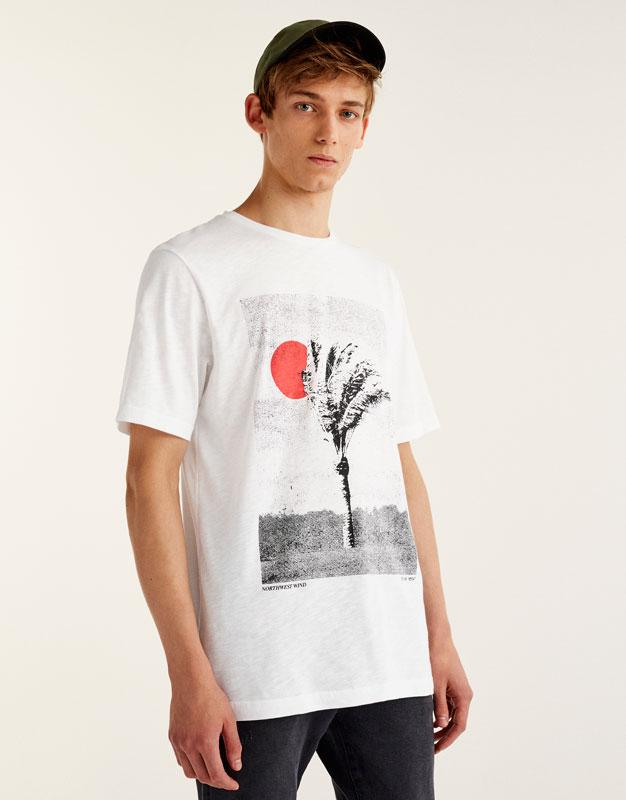Samarreta print fotogràfic palmera