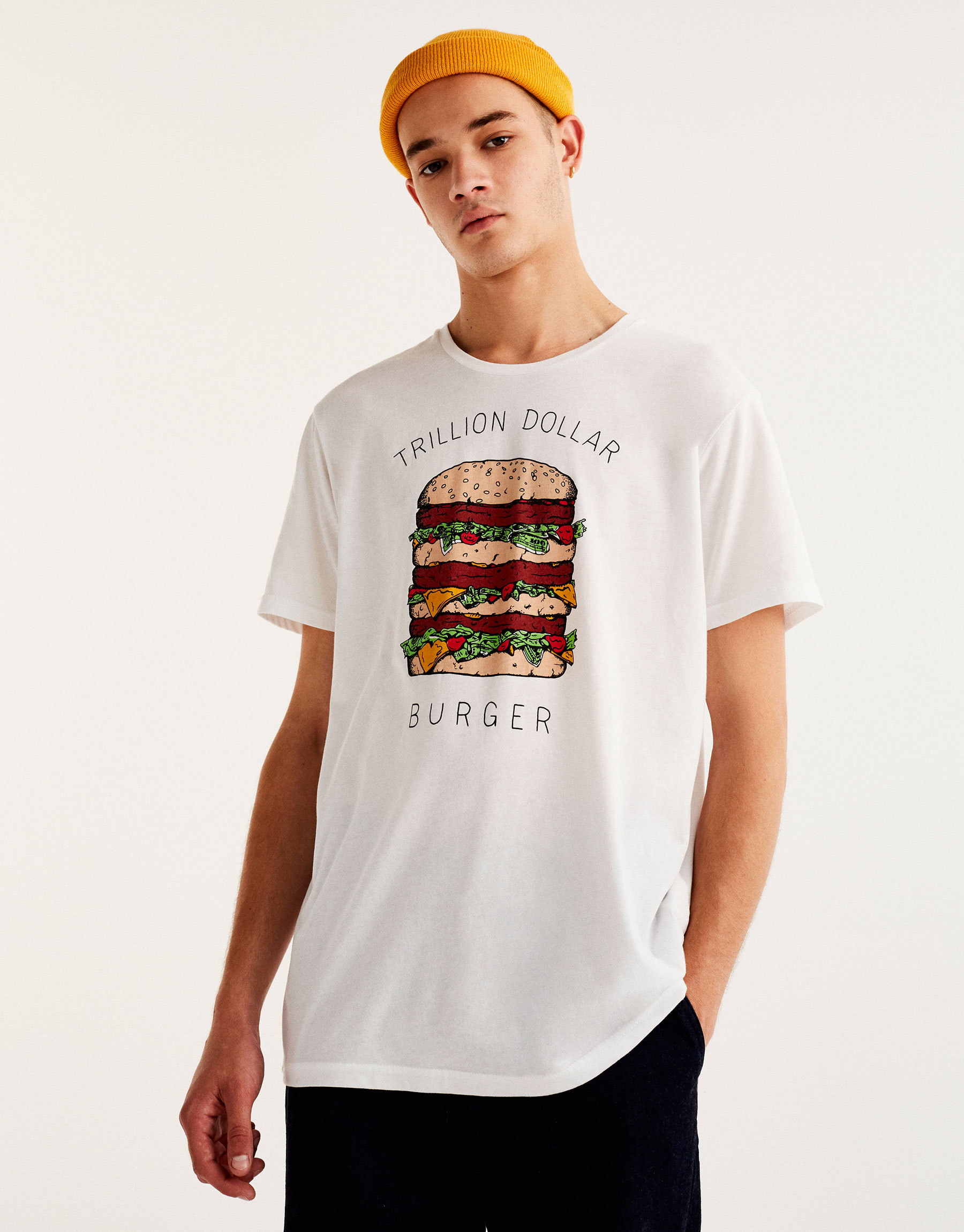 Hamburger print T-shirt