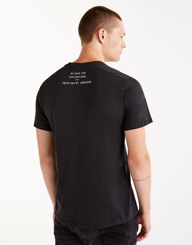Faded T-shirt with slogan