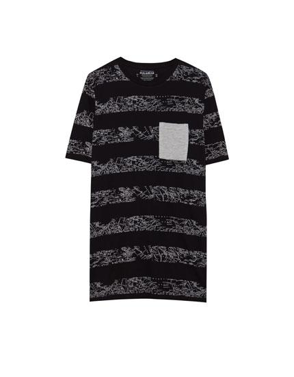 T-shirt with horizontal stripes