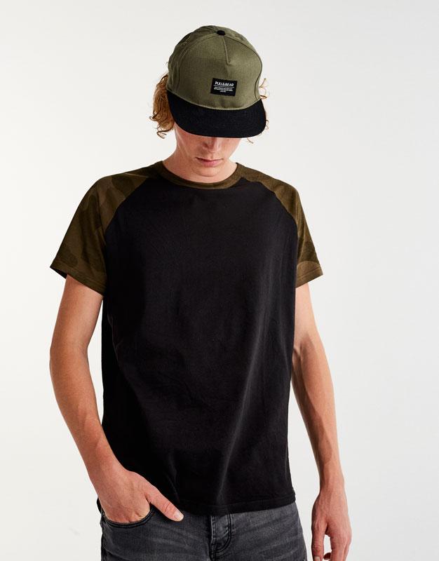 Camiseta manga ranglan camuflaje