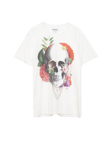 Camiseta estampado calavera