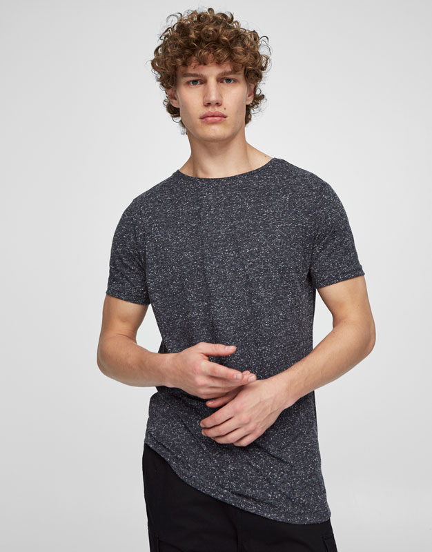 Basic textured weave T-shirt