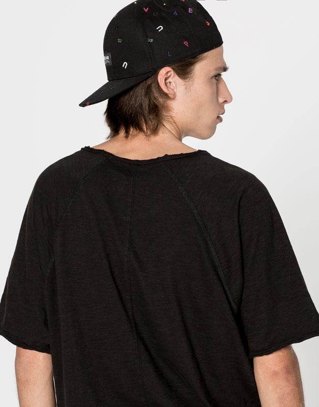T-shirt manches raglan poche