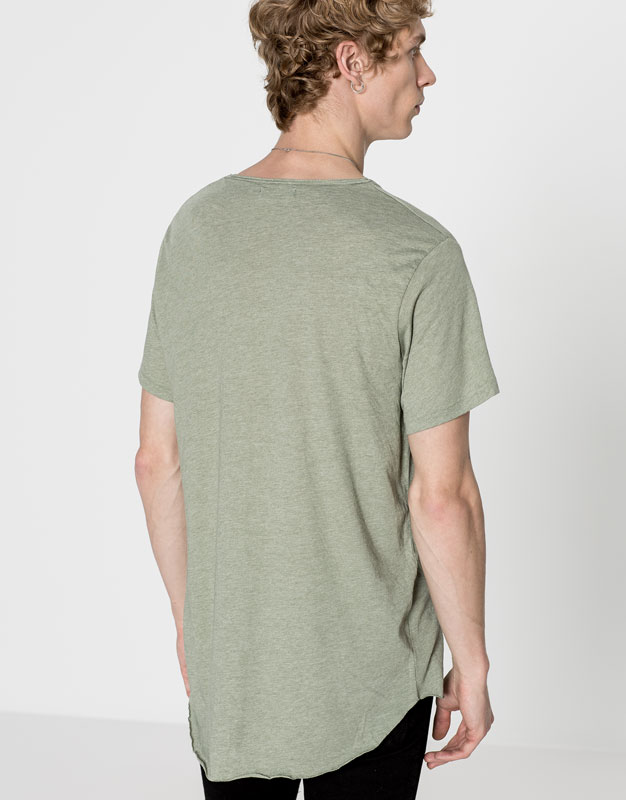 Anthracite dropped sleeve t-shirt