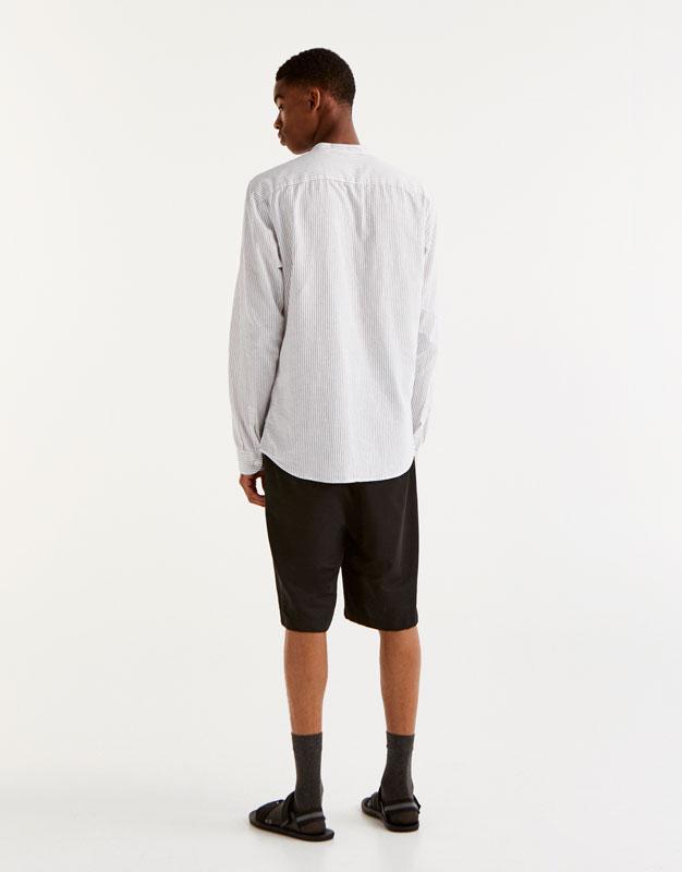 Camisa de lli coll mao