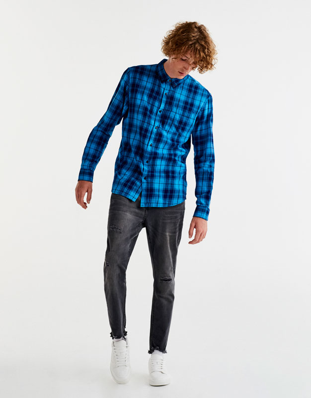 Checked Oxford shirt
