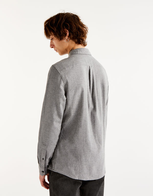 Camisa de franel·la estampat geomètric