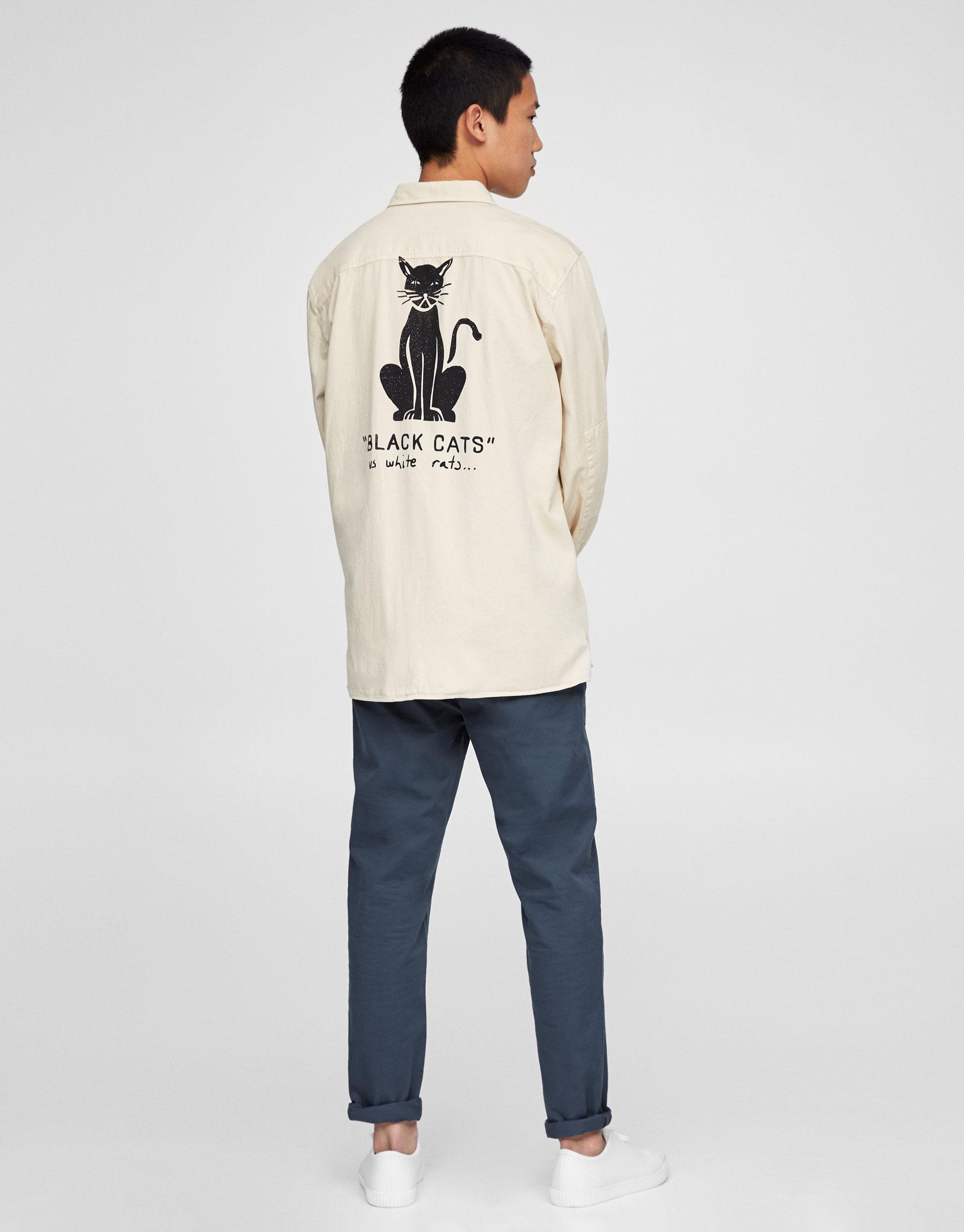 Overshirt with back print