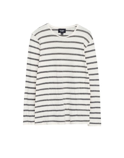Pull manches longues rayures