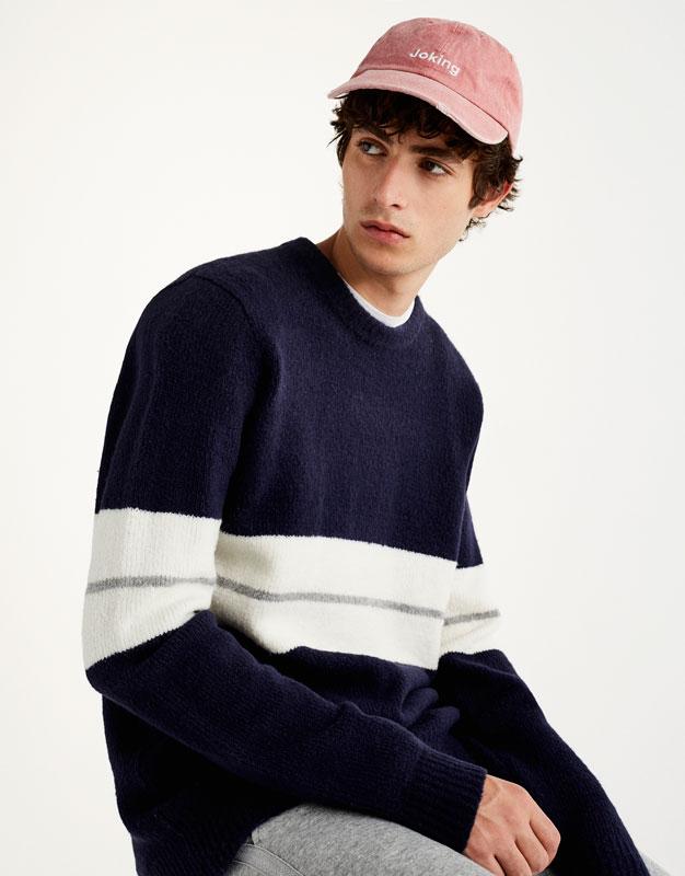 Jersey lana franja pecho