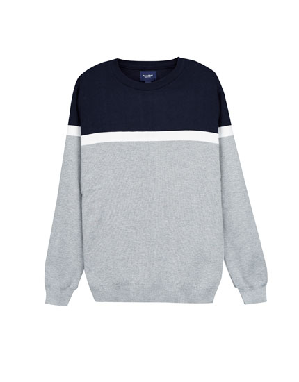 Panelled sweater