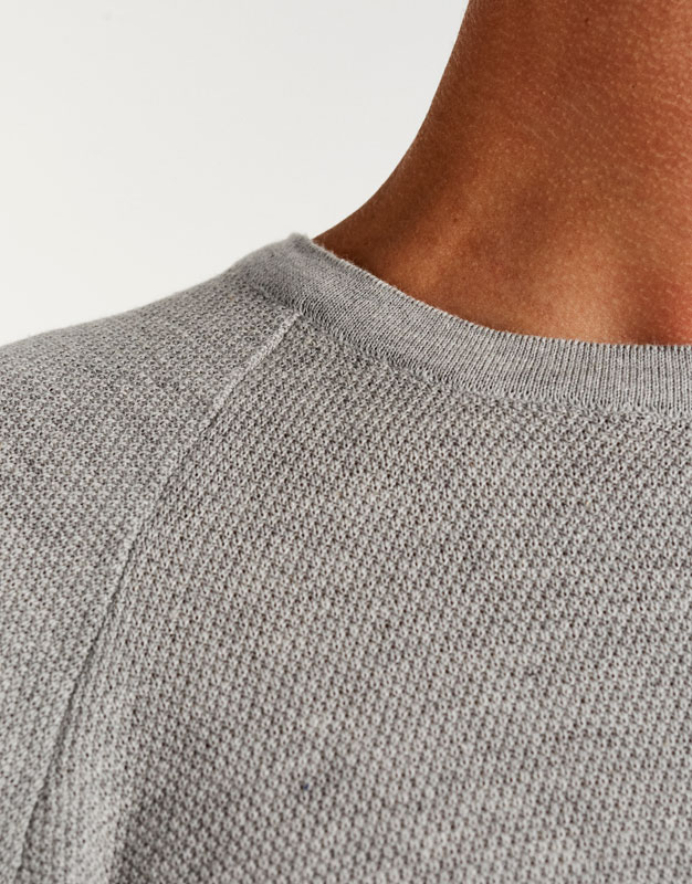 Pull texture manches courtes