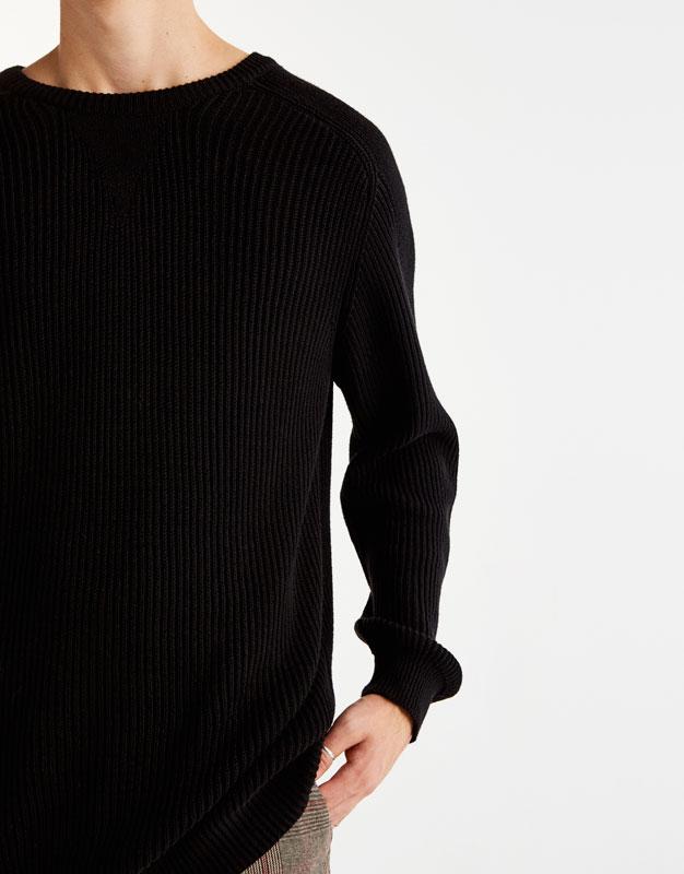 Brioche stitch sweater