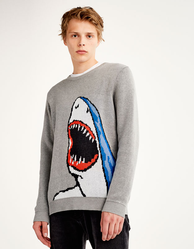 Front printed sweater