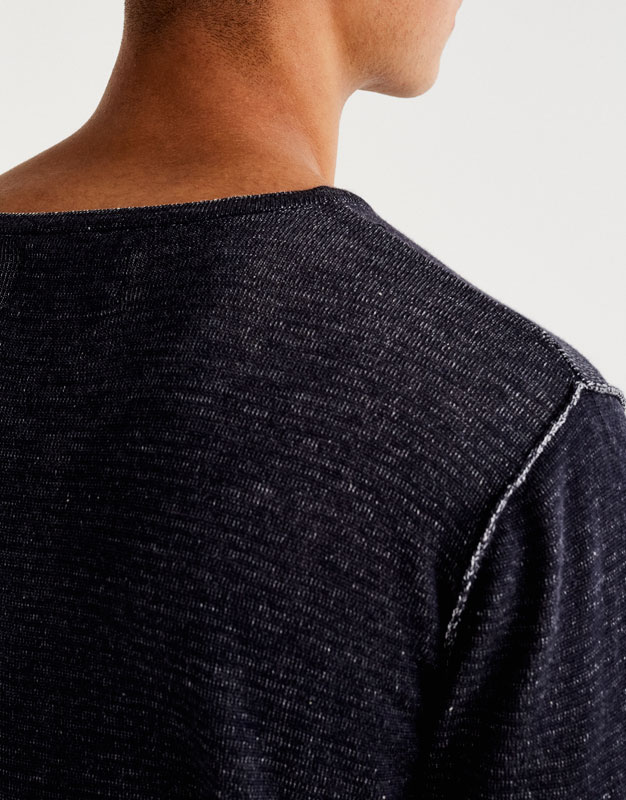 Sweater with seams
