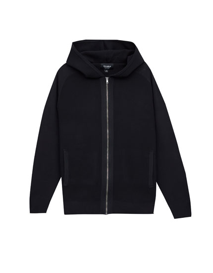 Technical hooded jacket