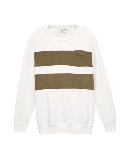 Horizontal stripe sweatshirt