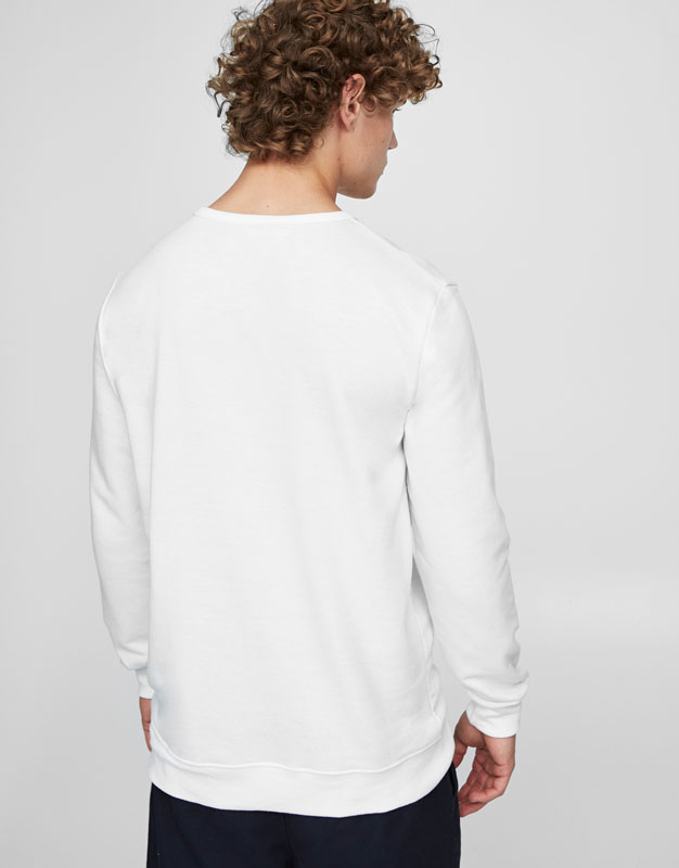 Sweatshirt with printed front