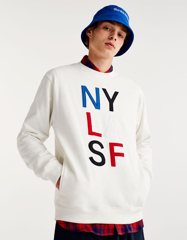 Printed 'USA' sweatshirt