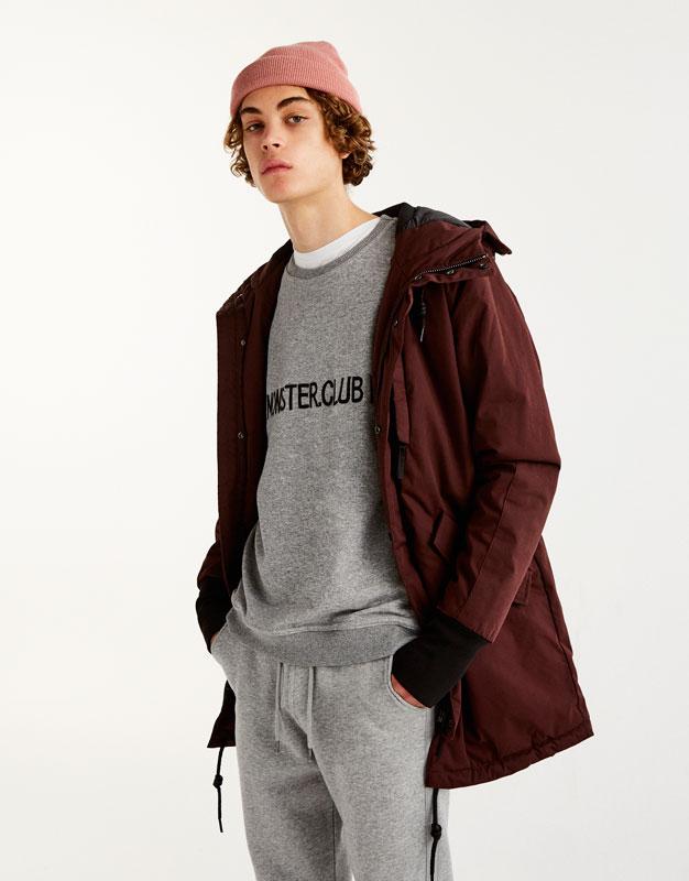 Embroidered text sweatshirt