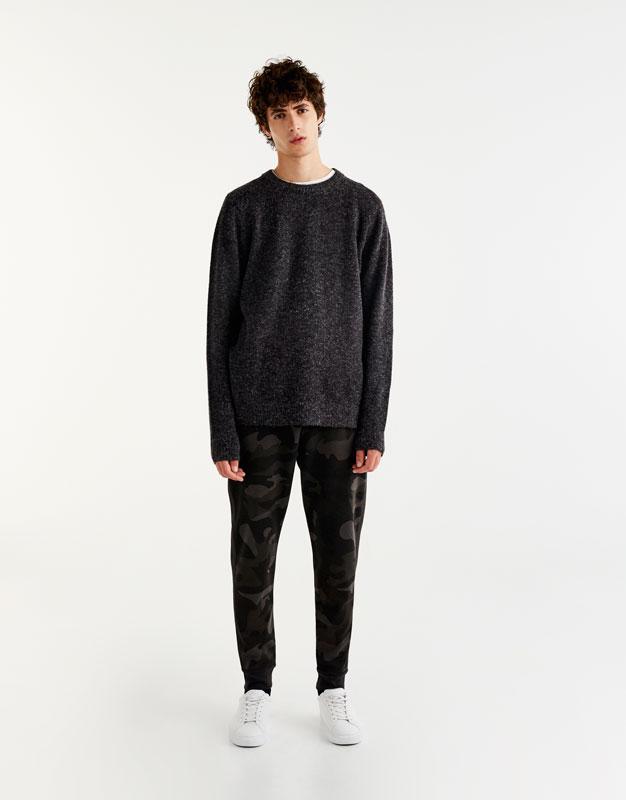 Pantalons jòguing llista lateral camuflatge