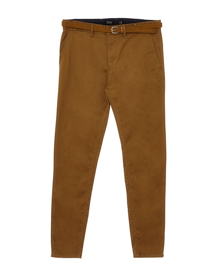 Pantalon style chino skinny fit