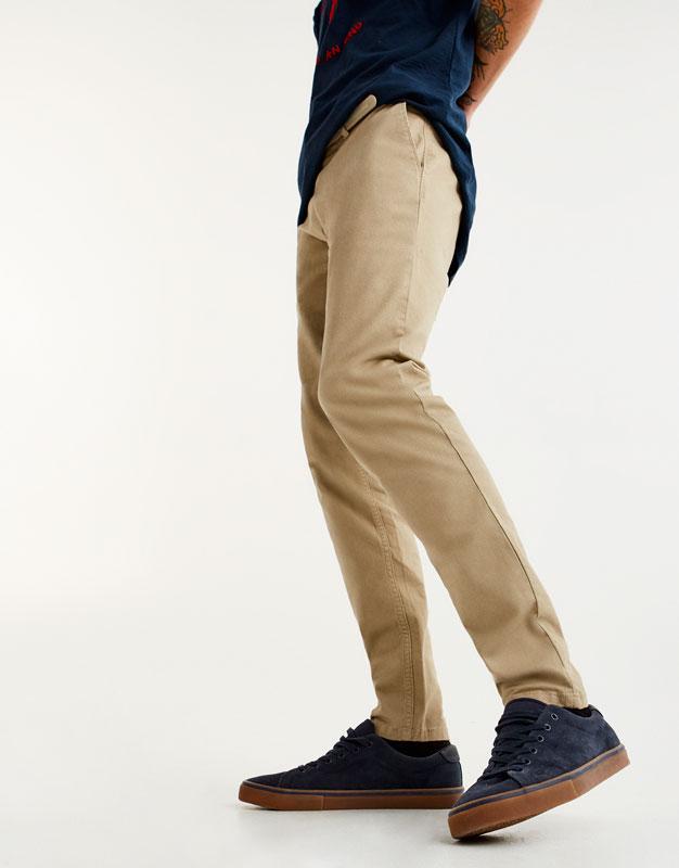 Skinny chino trousers