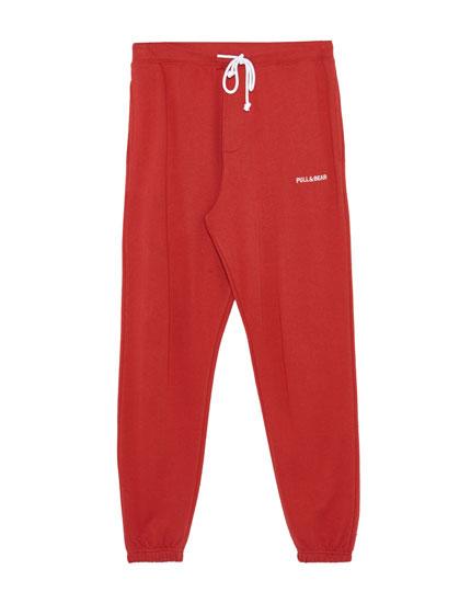 Pantalón jogging logo Pull&bear