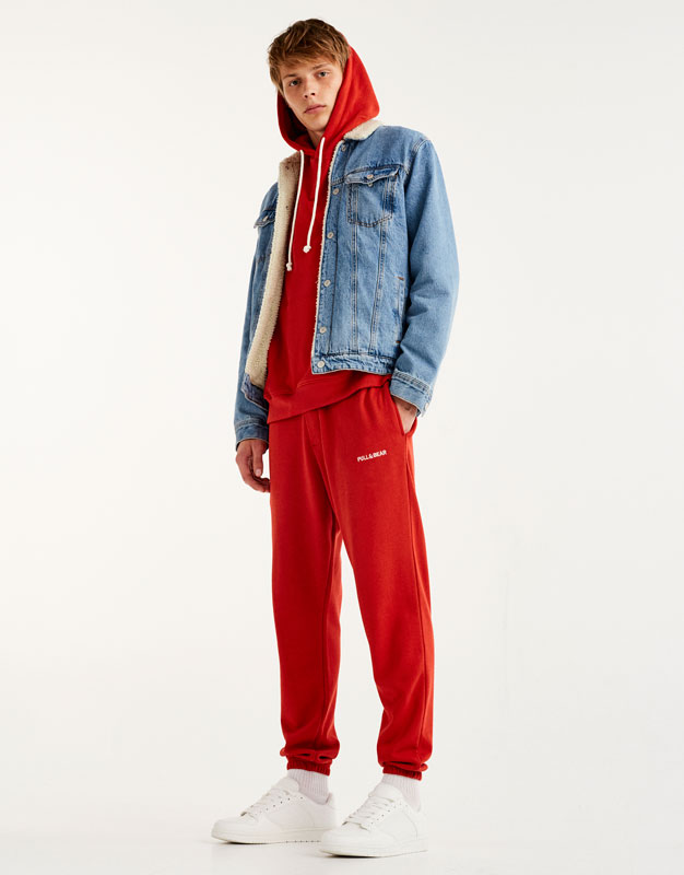 Jogging trousers with Pull&Bear logo
