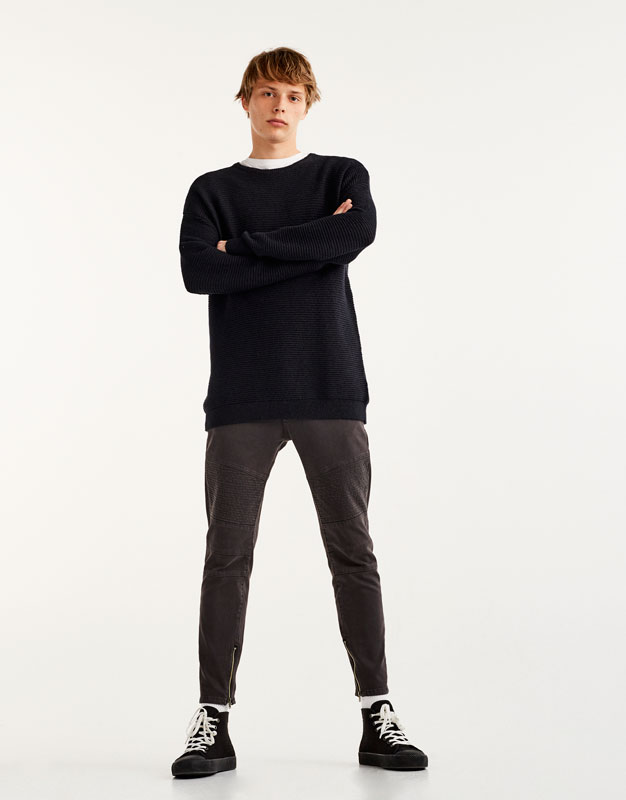 Pantalons biker carrot fit