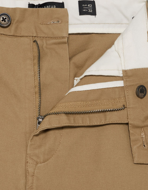 Cropped Chinohose