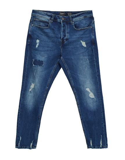 Jeans slim premium rotos