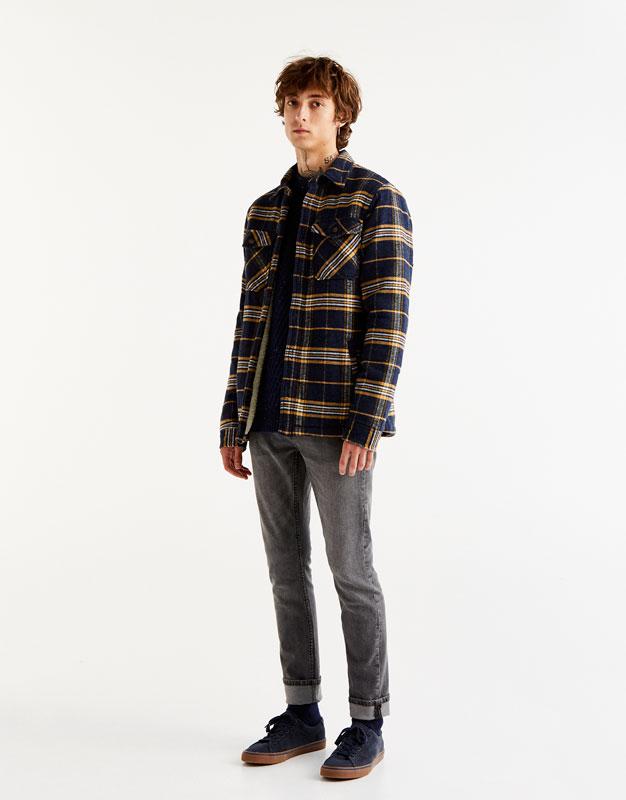 Jean slim comfort fit gris