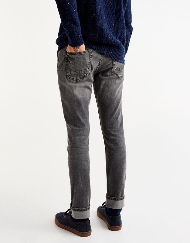 Grey slim fit comfort jeans