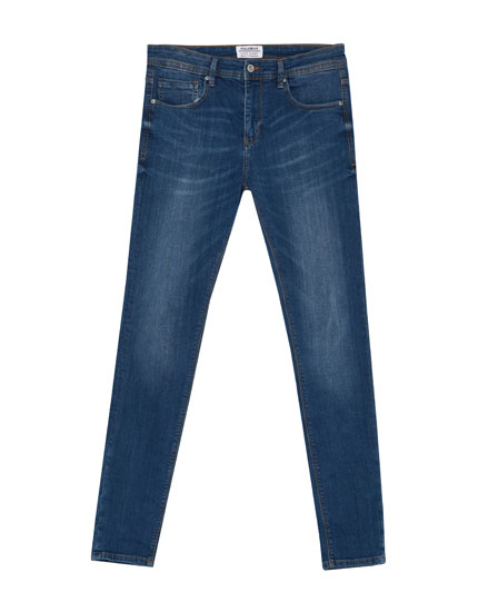 Dark blue superskinny fit jeans